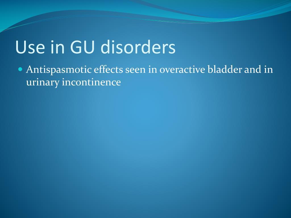 Use in GU disorders