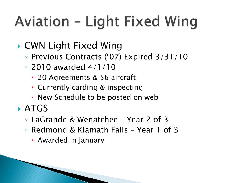 Aviation – Light Fixed Wing