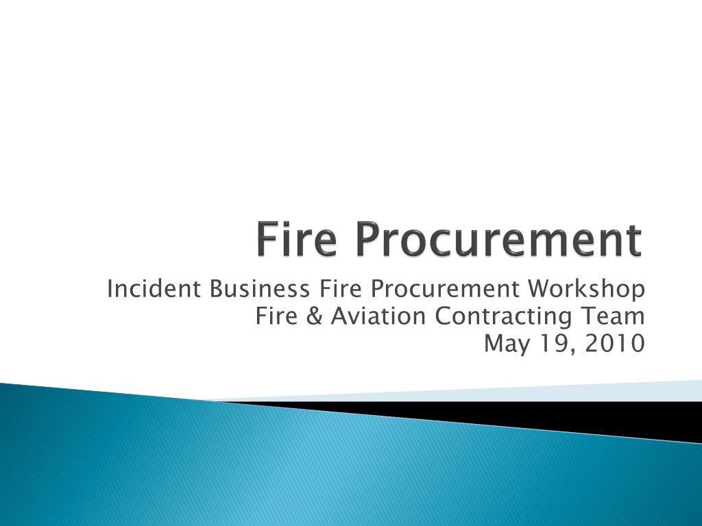 fire procurement l.
