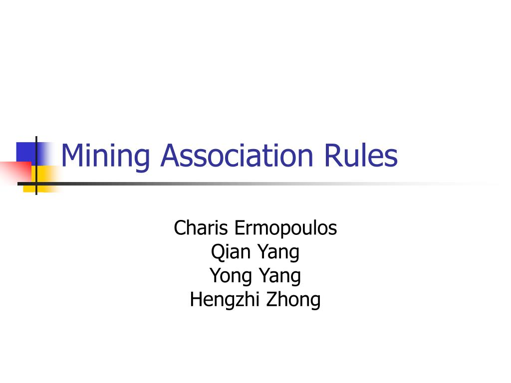 mining association rules l.