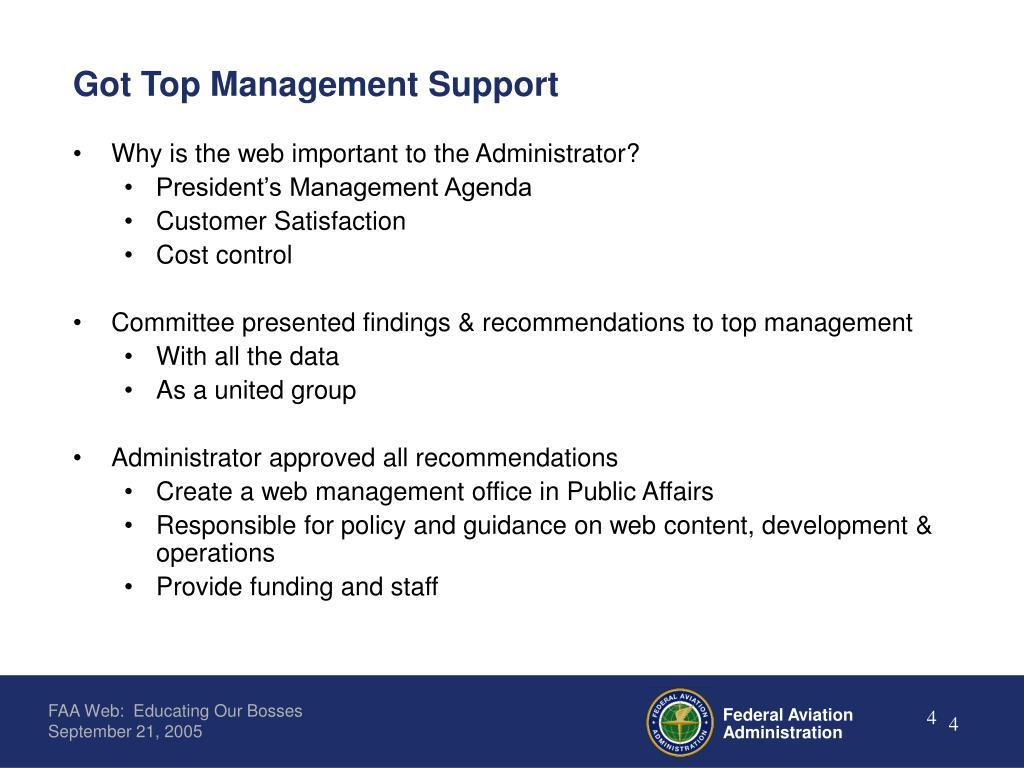 Got Top Management Support