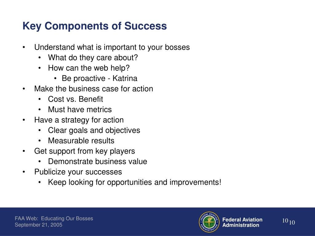 Key Components of Success