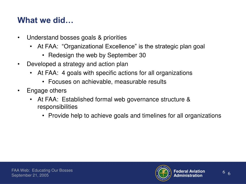 What we did…