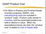 gaap product cost