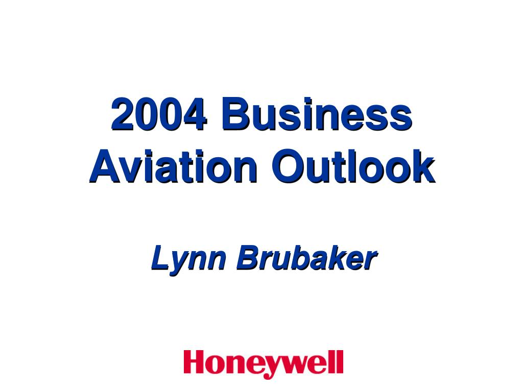 2004 business aviation outlook l.