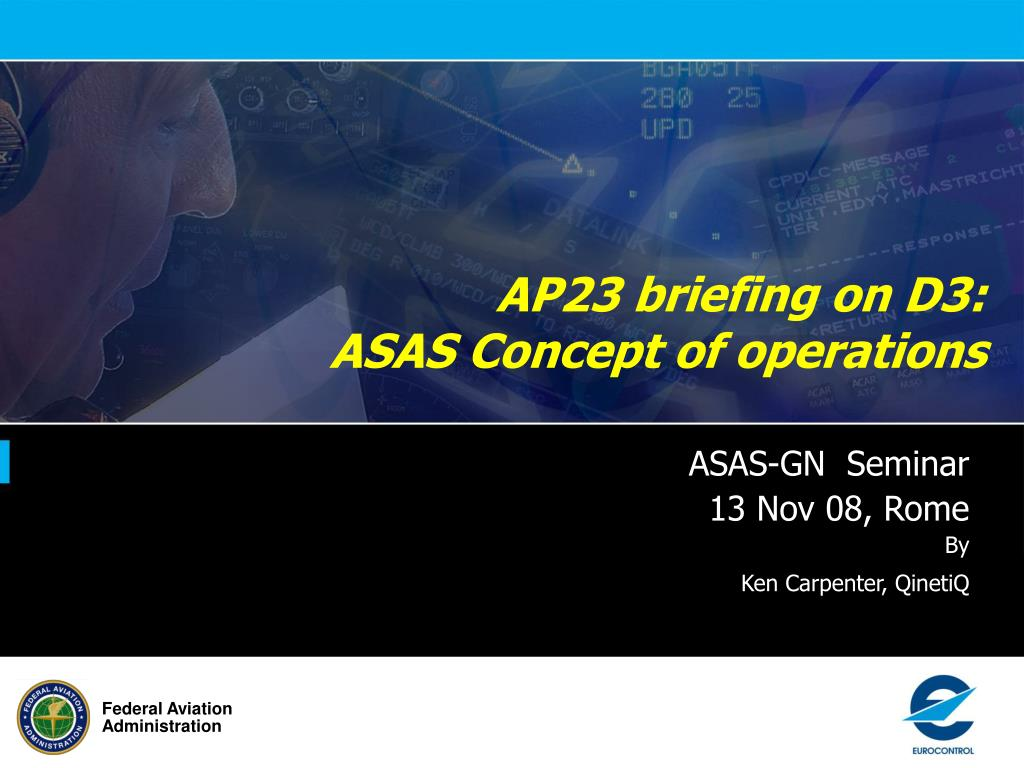 ap23 briefing on d3 asas concept of operations l.
