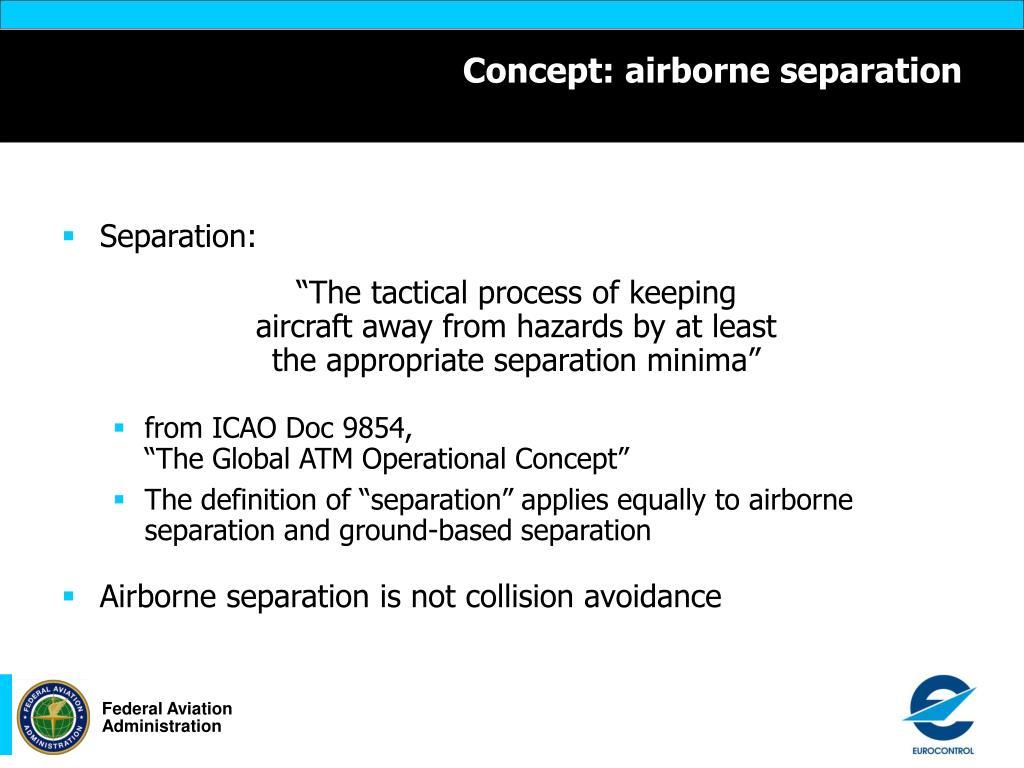 Concept: airborne separation