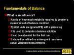 fundamentals of balance