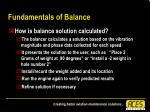 fundamentals of balance32