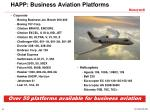 happ business aviation platforms