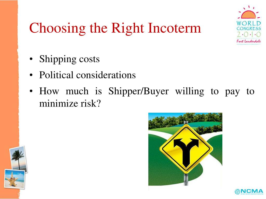 Choosing the Right Incoterm
