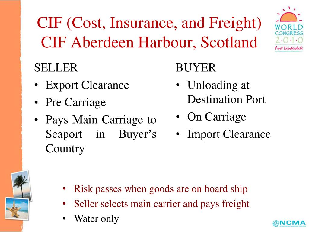 CIF (Cost, Insurance, and Freight)