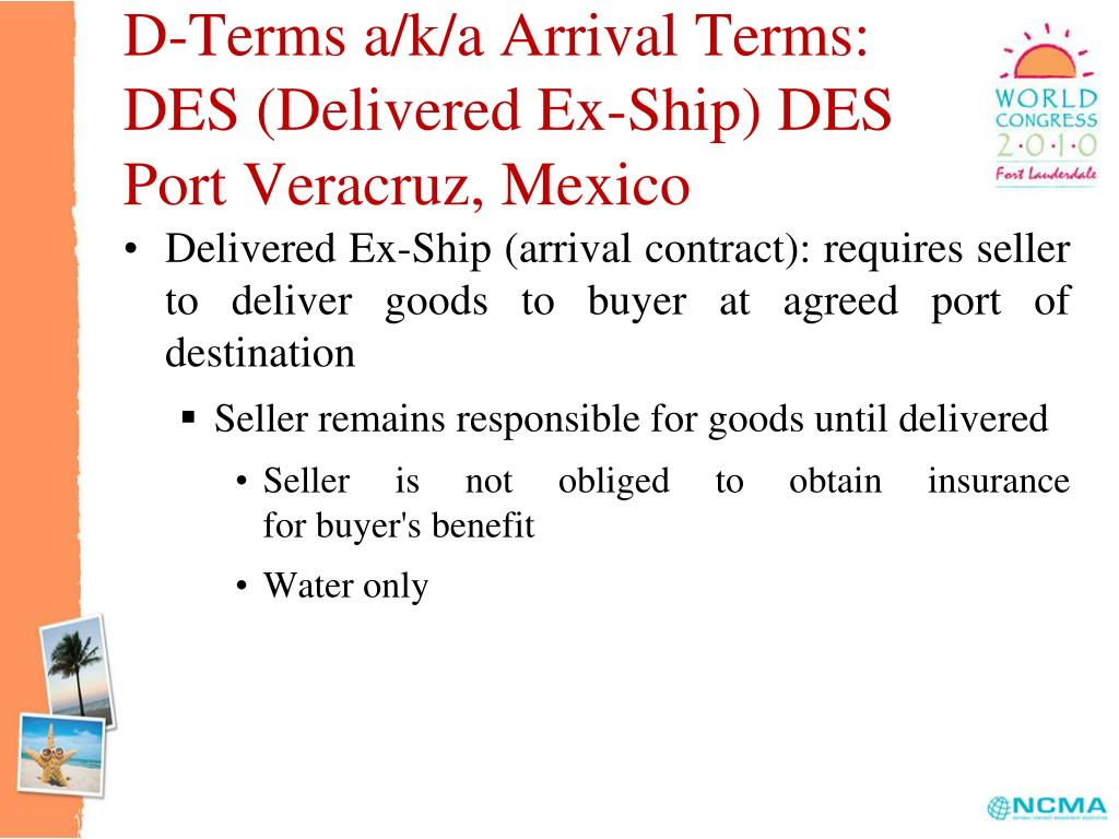 D-Terms a/k/a Arrival Terms:
