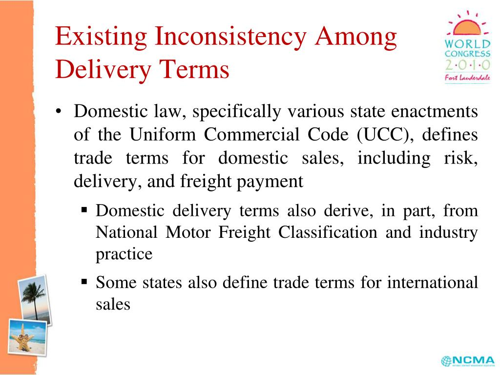 Existing Inconsistency Among Delivery Terms