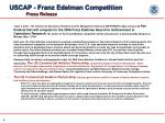 uscap franz edelman competition press release