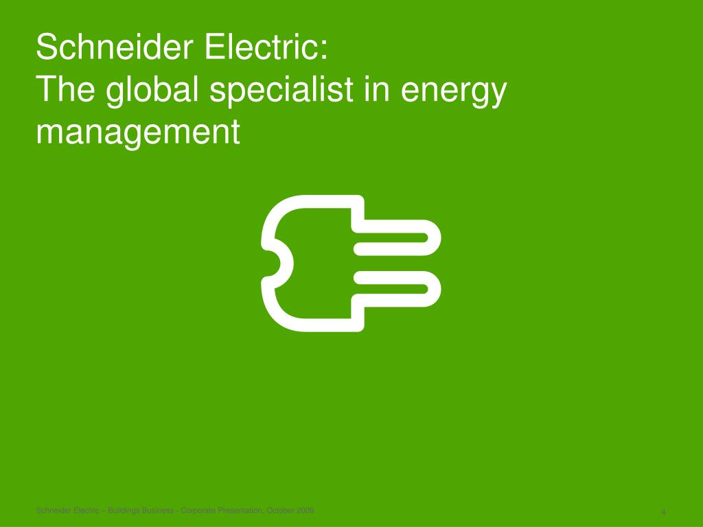 PPT The Buildings Business of Schneider Electric