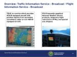 overview traffic information service broadcast flight information service broadcast