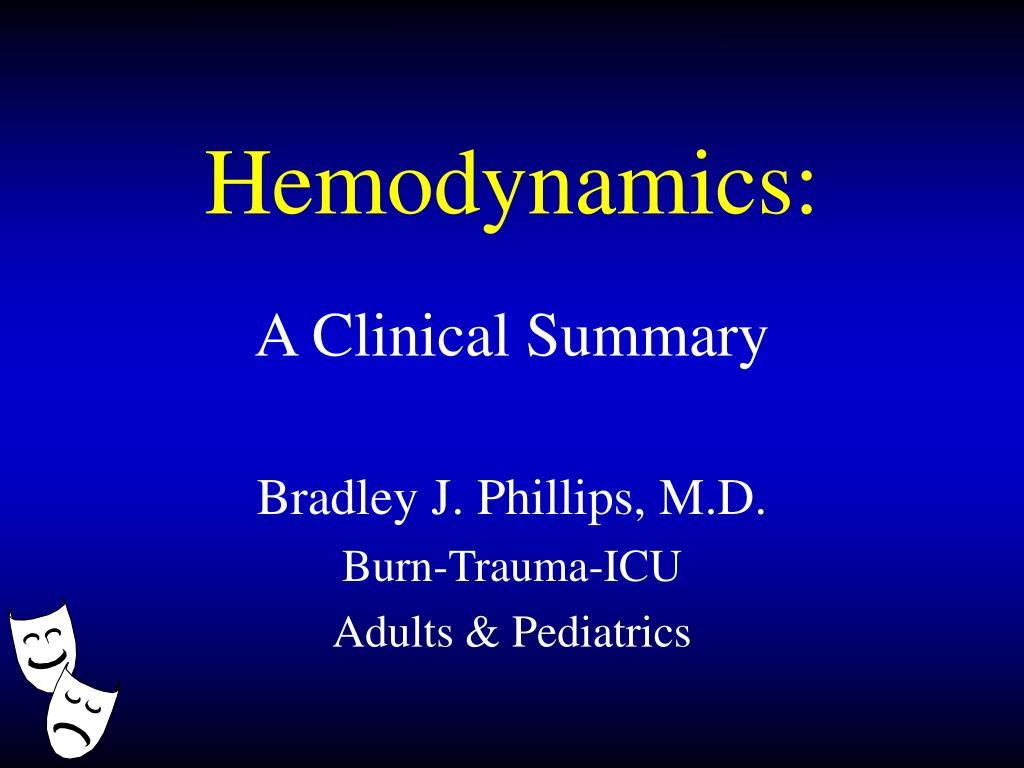 Hemodynamics: