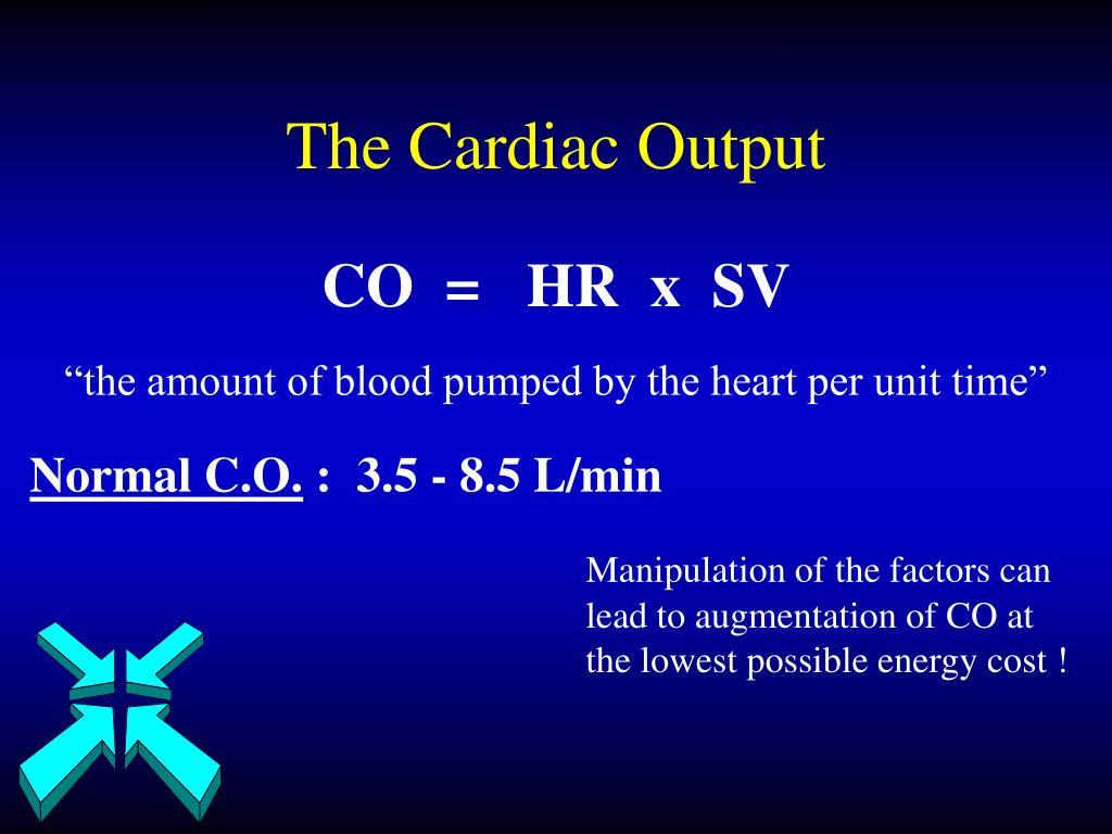 The Cardiac Output