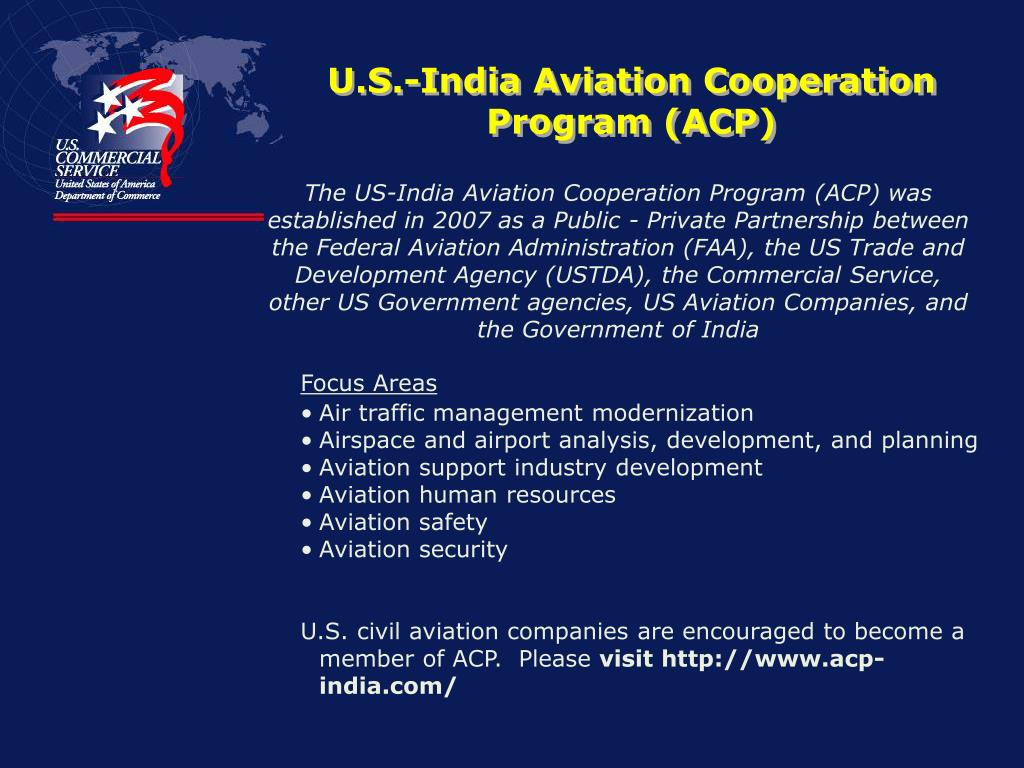 U.S.-India Aviation Cooperation Program (ACP)