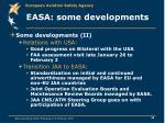 easa some developments29