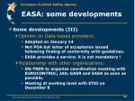 easa some developments30