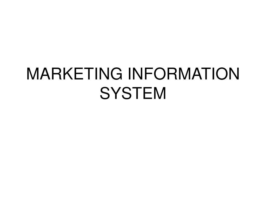 marketing information system l.