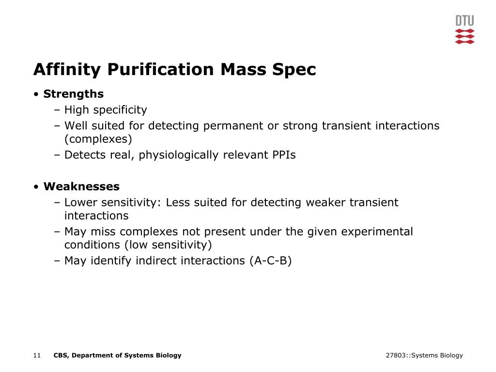 Affinity Purification Mass Spec