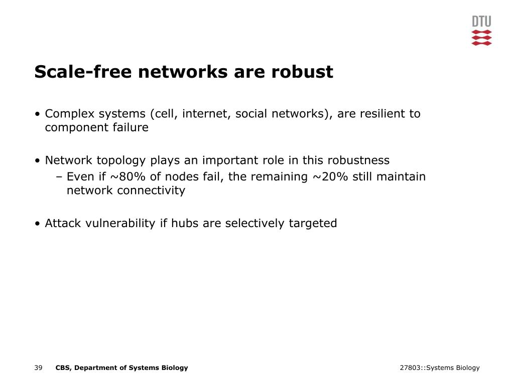 Scale-free networks are robust