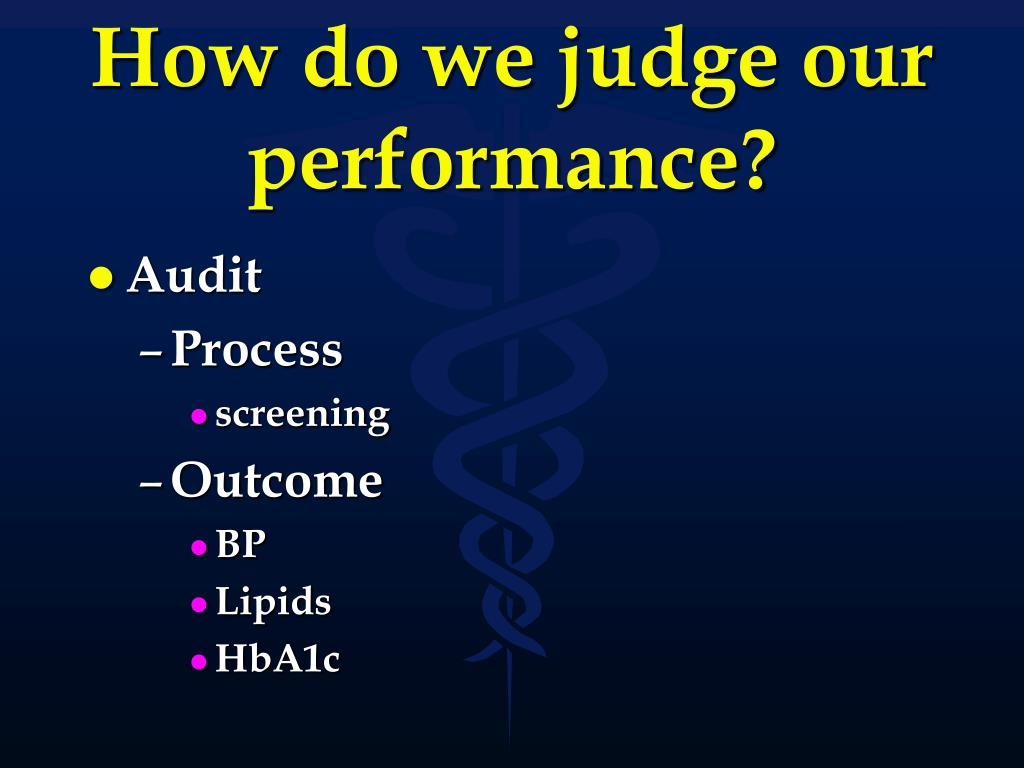 How do we judge our performance?