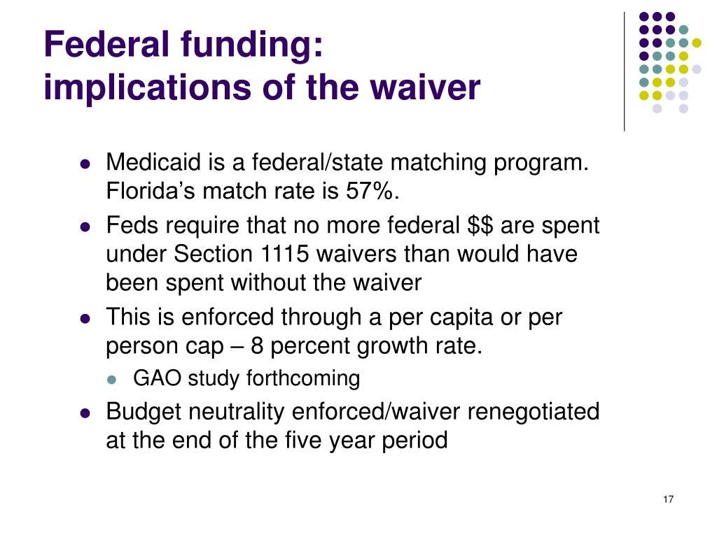 Federal funding:
