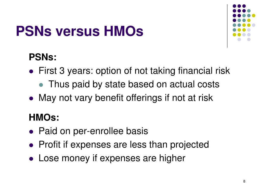 PSNs versus HMOs