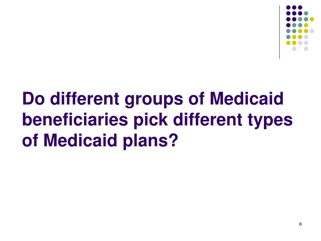 Do different groups of Medicaid beneficiaries pick different types of Medicaid plans?