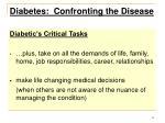 diabetes confronting the disease12