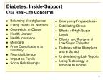diabetes inside support our real life concerns