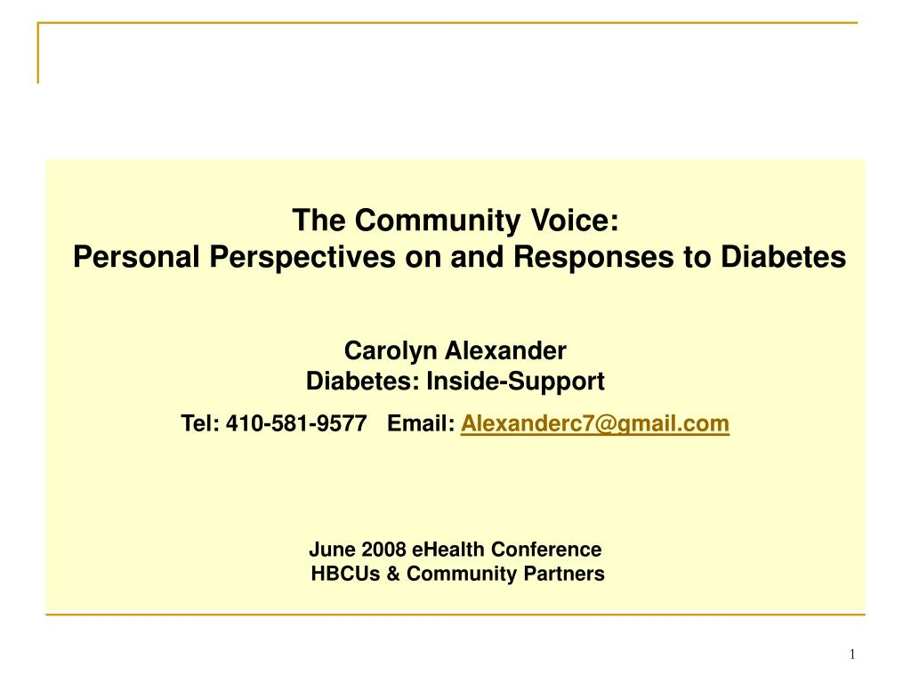 The Community Voice: