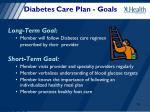 diabetes care plan goals
