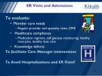 er visits and admissions