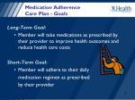 medication adherence care plan goals