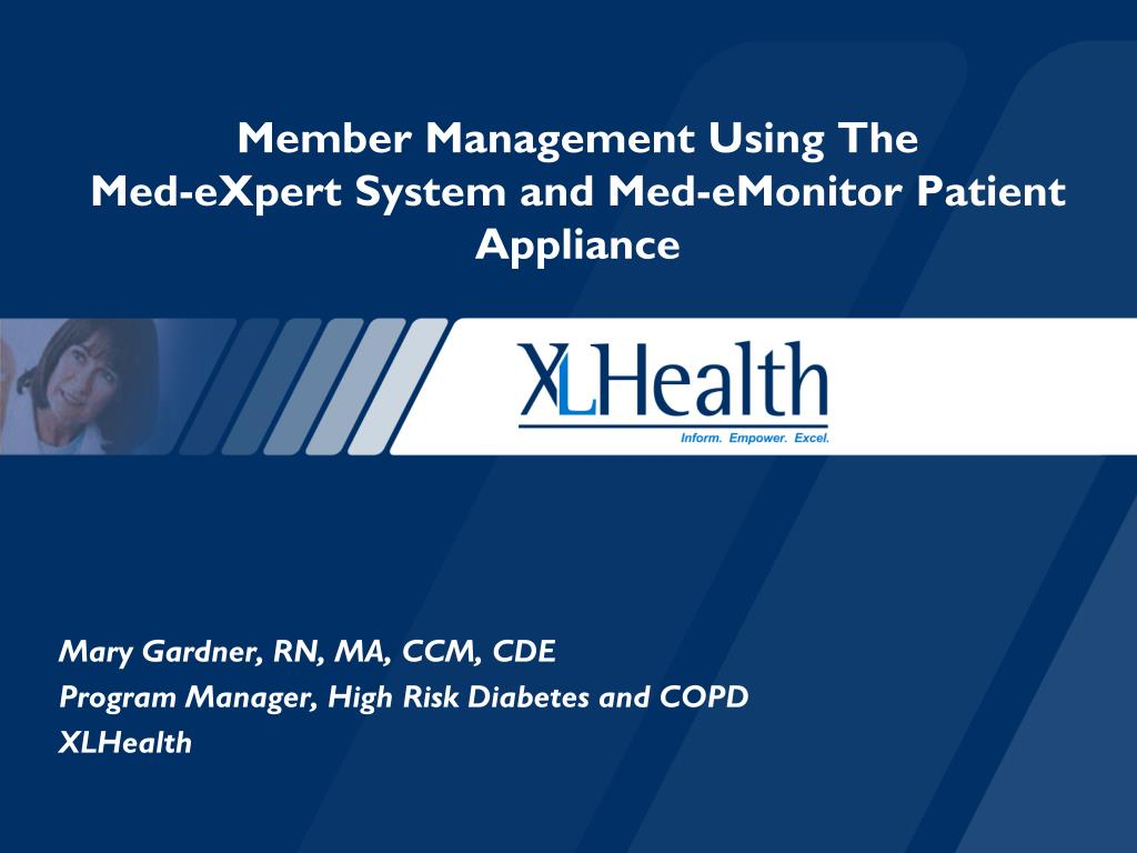 member management using the med expert system and med emonitor patient appliance l.