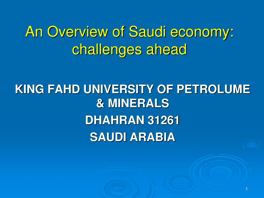 an overview of saudi economy challenges ahead l.