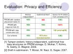 evaluation privacy and efficiency