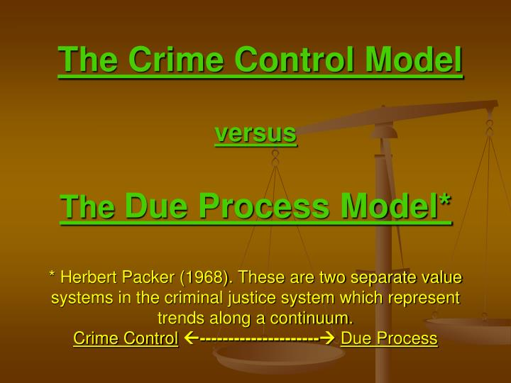 models of criminal justice system