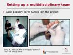 setting up a multidisciplinary team