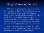 drug information services
