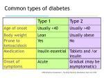common types of diabetes