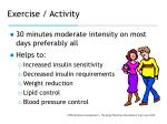 exercise activity