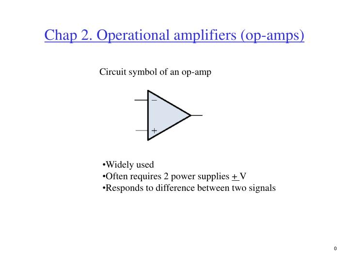 Ppt Chap 2 Operational Amplifiers Op Amps Powerpoint