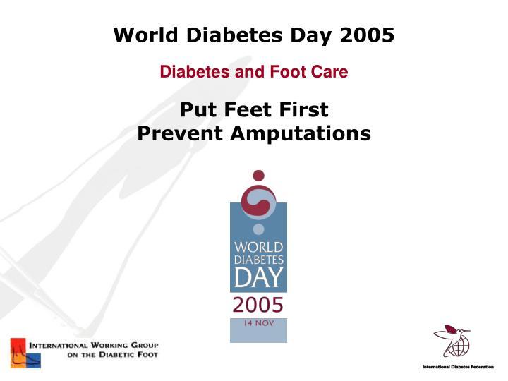 World diabetes day 2005