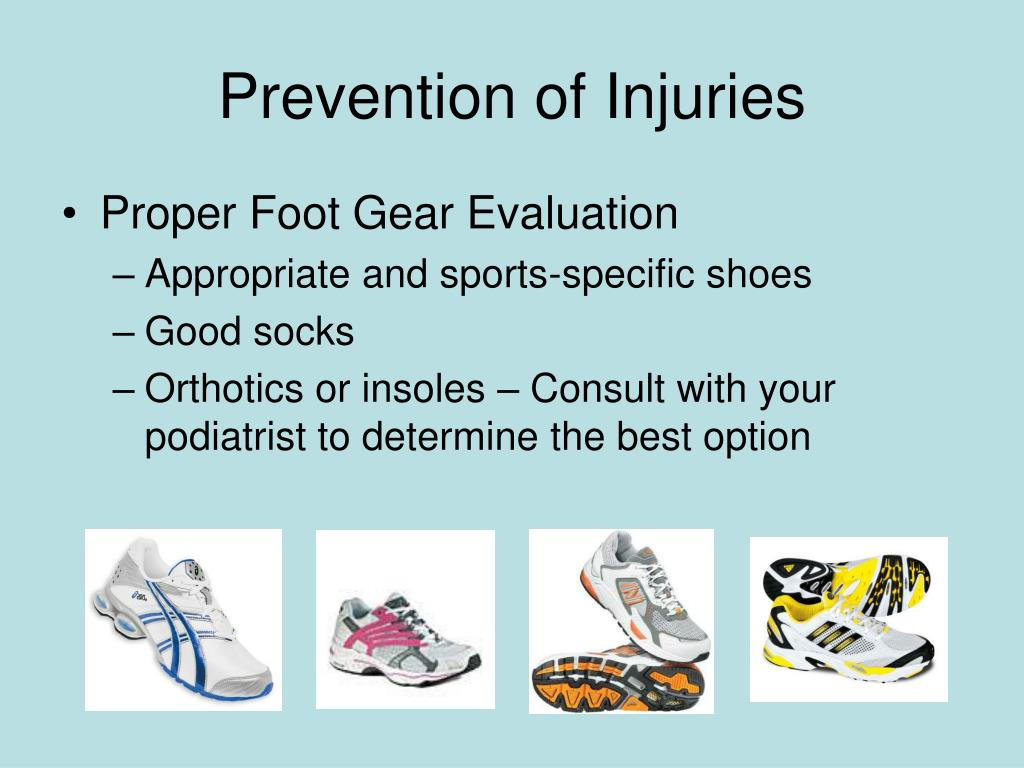Prevention of Injuries